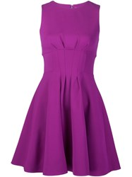 Cushnie Et Ochs Gathered Waist Mini Dress Pink And Purple