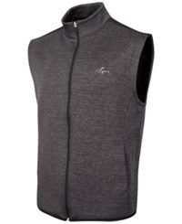 Greg Norman For Tasso Elba Hydrotech Zip Vest Only At Macy's Charcoal Heather