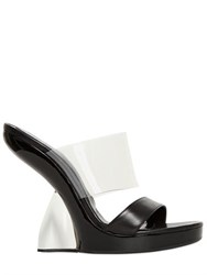 Alexander Mcqueen 130Mm Leather And Pvc Sandals