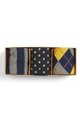 Men's The Tie Bar Mustard Sock Style Box