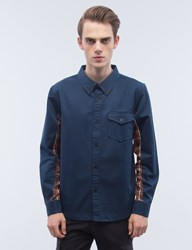 Undefeated Und Panel Twill L S Shirt