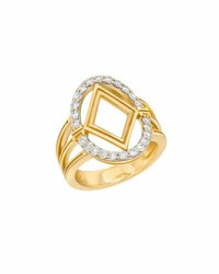 Ivanka Trump Affinity Large Oval Ring With Diamond Element