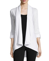 Marc Ny Performance Tab Sleeve High Low Cardigan White