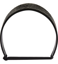 Givenchy Croc Embossed Leather Headband Black