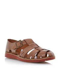 Bertie Fisherman Sporty Sole Buckle Sandals Tan