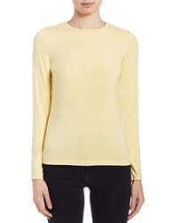 Lord And Taylor Iconic Fit Crewneck Sweater Lemon Meringue