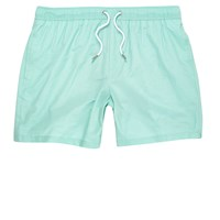 River Island Mens Mint Green Swim Shorts