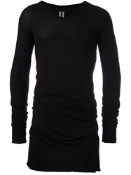 Rick Owens Long Length T Shirt Black
