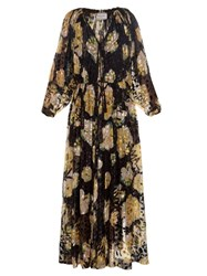Lanvin Floral Print And Leopard Devor Gown