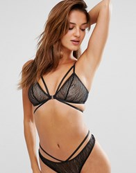 Lepel London Chelsea Geo Triangle Bra Black