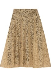 Dolce And Gabbana Lace Cotton Blend Skirt Nude