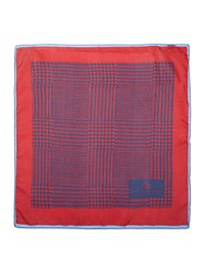 Chester Barrie Patterned Pocket Square Red