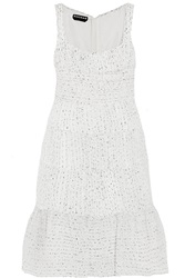 Rochas Ruched Organza Boucle Dress