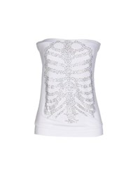 Met Topwear Tube Tops Women White