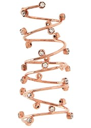Joanna Laura Constantine Cubic Zirconia Rose Gold Plated Cage Ring