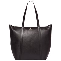 Modalu Poppy North South Leather Tote Bag Black