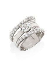 Marco Bicego Masai Diamond And 18K White Gold Five Row Ring