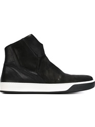 The Last Conspiracy 'Tycho' Hi Top Sneakers Black