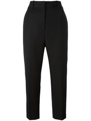 Jil Sander Cropped Tapered Trousers Black