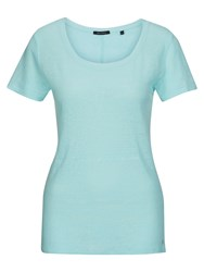 Marc O'polo T Shirt In Pure Linen Blue