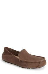 Ugg 'Hunley' Leather Moccasin Loafer Men Stone