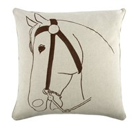 Thomas Paul Thomaspaul Thoroughbred Flax Pillow 22 X 22