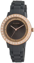 Pilgrim Grey And Rose Gold Plated Watch Grey