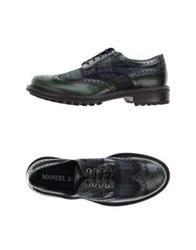 Manuel Ritz Lace Up Shoes Dark Green