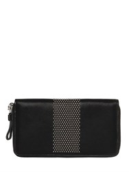 Alexander Mcqueen Micro Studded Leather Zip Around Wallet