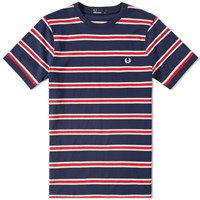 Fred Perry Bomber Stripe Tee Blue