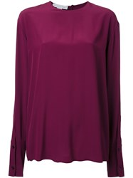 Stella Mccartney Ruched Back Blouse Red