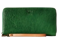 Will Leather Goods Imogene Checkbook Green Checkbook Wallet