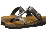 Naot Footwear Malibu Metal Leather Women's Slide Shoes Gray