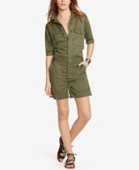 Denim And Supply Ralph Lauren Utility Romper Olive