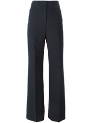 Cacharel High Waist Flared Trousers Blue