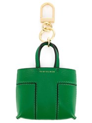 Tory Burch Shopper Tote Keyring Green