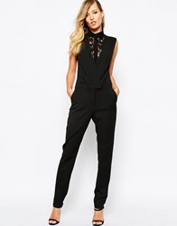 Supertrash Wallace Jumpsuit With Lace Black