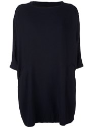 Casey Casey Boat Neck Shift Dress Blue