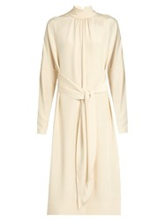Tibi Dolman Sleeved Midi Dress Ivory