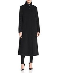 Basler Long High Neck A Line Coat Black