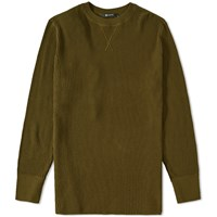 Alexander Wang T By Long Sleeve Waffle Tee Green