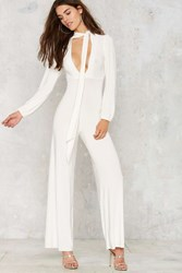 Nasty Gal Billy Pussy Bow Jumpsuit