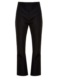 Vetements High Rise Kick Flare Cropped Trousers Black