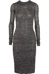 Isabel Marant Dakota Ribbed Knit Dress Black