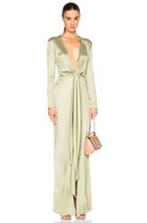 Givenchy Jersey Gown In Green