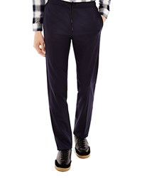 Sandro Alpha Wool Drawstring Slim Fit Trousers Marine