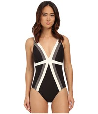 Miraclesuit Spectra Trilogy One Piece Black Women's Swimsuits One Piece