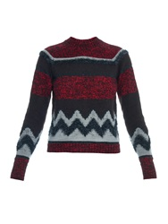 Kolor Multi Block Wool And Mohair Blend Knit Sweater