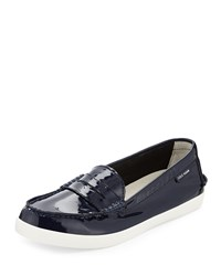 Cole Haan Pinch Patent Leather Loafer Peacoat Women's