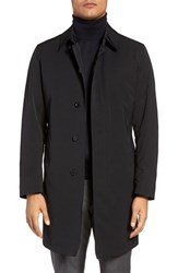 Sanyo Men's Big And Tall Lincoln Classic Fit Trench Coat Black